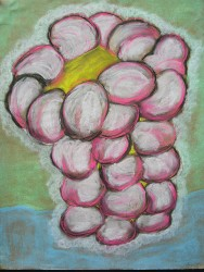 Lori Schafer Holy Raspberry 1999 mixed media on paper 24.5 x 19 in