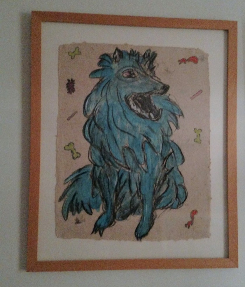 Blue Hiya framed